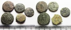 Ancient Coins - AS FOUND. LOT OF 5 PTOLEMAIC AE COINS