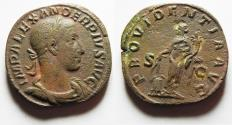 Ancient Coins - VERY ATTRACTIVE: Severus Alexander. AD 222-235. Æ Sestertius. Rome mint.