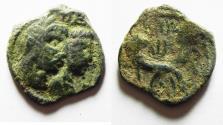 Ancient Coins - NABATAEA. Aretas IV, with Shaqilat. 9 BC- AD 40. AE 20
