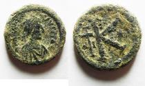 Ancient Coins - ANASTASIUS AE HALF FOLLIS. VERY ATTRACTIVE