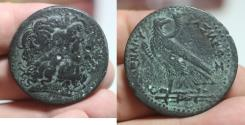 Ancient Coins - PTOLEMAIC KINGDOM. PTOLEMY IV AE 40