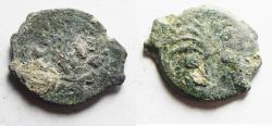 Ancient Coins - AS FOUND: Judaea, Procurators. M. Ambibulus. 9-12 AD. Æ Prutah