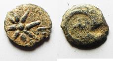 Ancient Coins - Judaea, Alexander Jannaeus, 103-76 BC, AE Prutah (Biblical Widow's Mite).