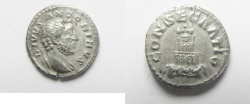 Ancient Coins - ROMAN IMPERIAL. Divus Antoninus Pius. AR denarius (17mm, 2.55g). Rome mint. Struck under Marcus Aurelius. Rome, after AD 161.