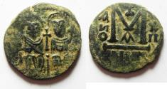 World Coins - ISLAMIC, Umayyad Caliphate. Uncertain period (pre-reform). AH 41-77 / AD 661-697. Æ Fals. GERASA OR NYSA-SCYTHOPOLIS