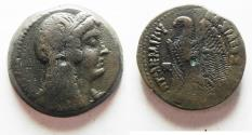 Ancient Coins - PTOLEMAIC EMPIRE. PTOLEMY VI 180-145 BC. AE27 . WITH ISIS