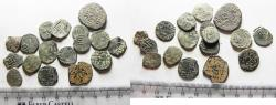 Ancient Coins - ISLAMIC. MAMLUK. LOT OF 17 AE FALS COINS. AS FOUND. GREAT STUDY GROUP!