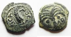 Ancient Coins - JUDAEA. Procurators. Marcus Ambibulus AD 9-12 under Augustus. AE.Prutah. Year 39 ( AD 8/9 )