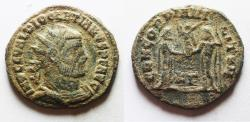 Ancient Coins - AS FOUND: DIOCLETIAN AE ANTONINIANUS.
