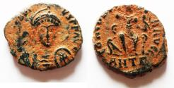 Ancient Coins - HONORIUS AE . NICE DESERT PATINA