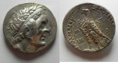 Ancient Coins - Egypt. Ptolemaic kings. Ptolemy II Philadelphos (285-246 BC). AR tetradrachm (25mm, 14.08g). Ptolemaïs (Ake) mint. Struck in regnal year  30 (256/5 BC).