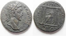Ancient Coins - Decapolis. Gadara under Commodus (AD 177-192). AE 27mm, 11.61g. Struck in civicl year 243 (AD 179/80).