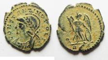 Ancient Coins - BEAUTIFUL ORIGINAL DESERT PATINA. CONSTANTINE I AE 3 . COMMEMORATIVE. ROME
