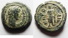 Ancient Coins - AS FOUND: Alexandria under Hadrian (AD 117-138). Heliopolite nome coinage. AE obol (20mm, 5.51g). Struck in regnal year 11 (AD 126/7).