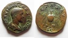 Ancient Coins - Maximus. Caesar, AD 235/6-238. Æ Sestertius. Rome mint. 3rd emission of Maximinus I, late AD 236-237.