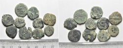 Ancient Coins - LOT OF 10 HASMONEAN / JUDAEAN AE PRUTOT