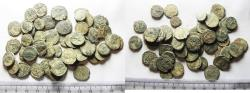 Ancient Coins - LOT OF 50 ANCIENT BRONZE ROMAN COINS