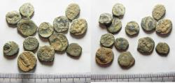 Ancient Coins - AS FOUND: LOT OF 13 ANCIENT NABATAEAN BRONZE COINS
