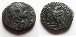 Ancient Coins - a rare variant : Phoenicia. Aradus under Caracalla (AD 198-217). Billon tetradrachm (26mm, 12.66g). Struck c. AD 215-217.