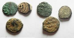 Ancient Coins - LOT OF 3 ANCIENT BRONZES . 2 JUDAEAN, AND A COIN FROM PETRA