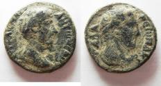 Ancient Coins - AS FOUND: DECAPOLIS. GADARA. MARCUS AURELIUS AE 25. Herakles bust