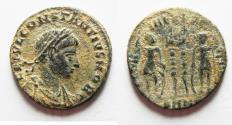 Ancient Coins - CONSTANTIUS II AE 3. AS FOUND. DESERT PATINA