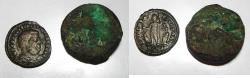 Ancient Coins - LOT OF TWO ANCIENT COINS. ONE IS ROMAN