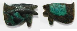 Ancient Coins - ANCIENT EGYPT. FAIENCE EYE OF HORUS AMULET. 600 - 300 B.C