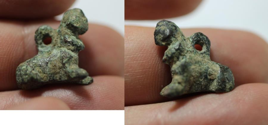 Ancient Coins - ANCIENT HOLY LAND. BRONZE AMULET. 6TH-5TH CENTURY B.C
