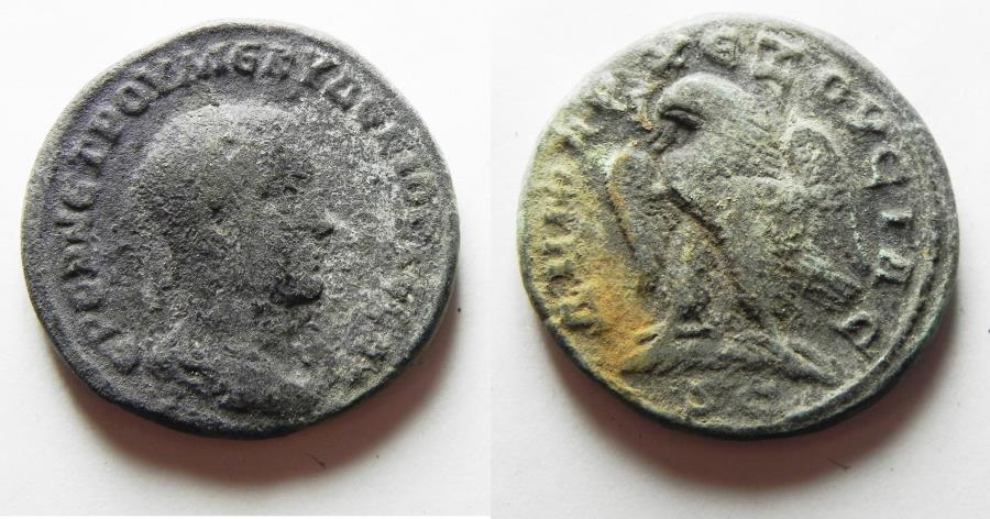 Ancient Coins - AS FOUND: Seleucis and Pieria. Antioch ad Orontem. Herennius Etruscus. A.D. 251. Billon tetradrachm