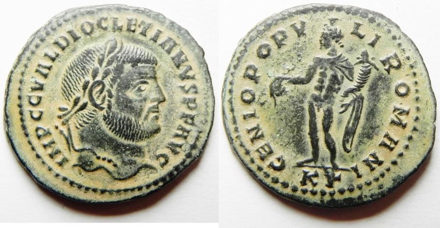 Ancient Coins - Diocletian. A.D. 284-305. Æ follis. Cyzicus