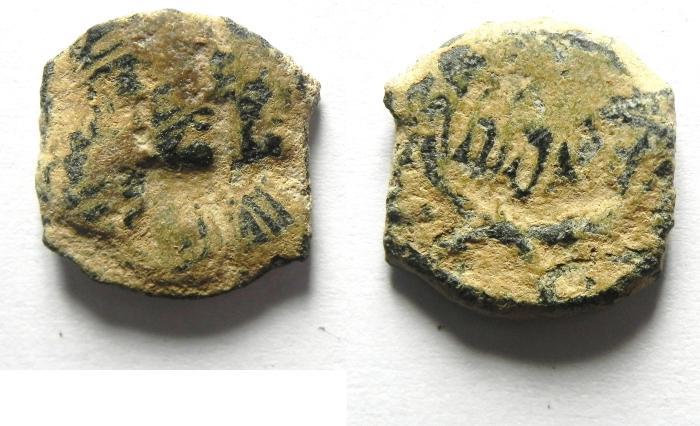 Ancient Coins - NABATAEAN , RABBEL II & GAMILAT AE 15
