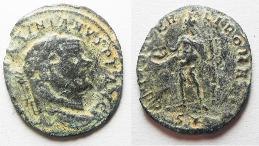 Ancient Coins - ROMAN AE FOLLIS
