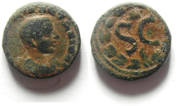 Ancient Coins - SYRIA, Seleukis and Pieria. Antioch. Diadumenian, as Caesar. AE 17. Struck 217-218 AD