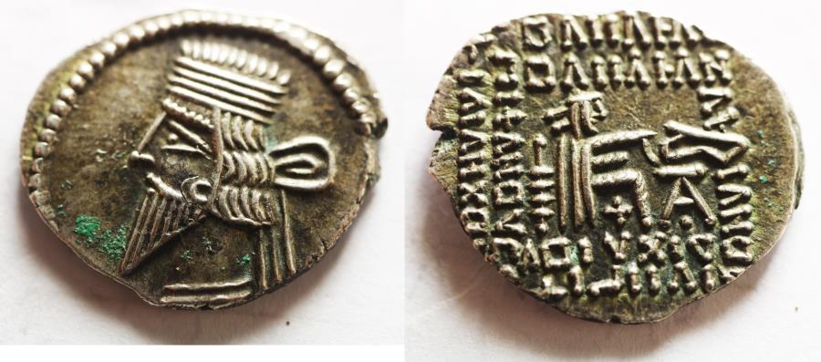 Ancient Coins - Kings of Parthia, Pakoros I (c. AD 78-120). AR Drachm