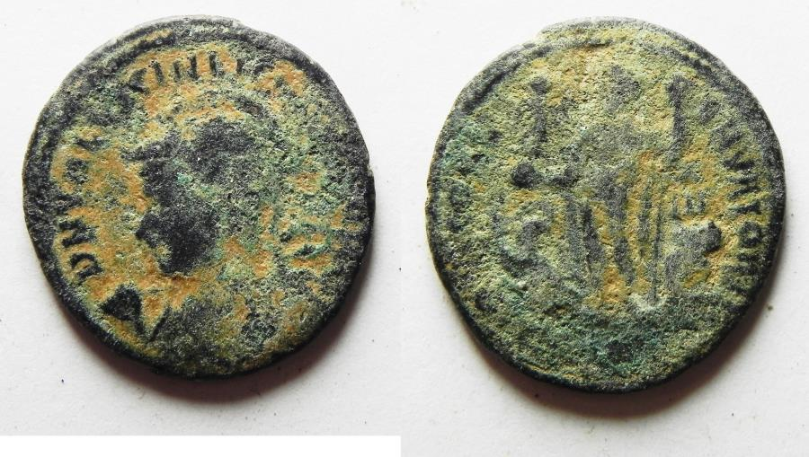 Ancient Coins - AS FOUND. LICINIUS II AE FOLLIS. 315 - 326 A.D