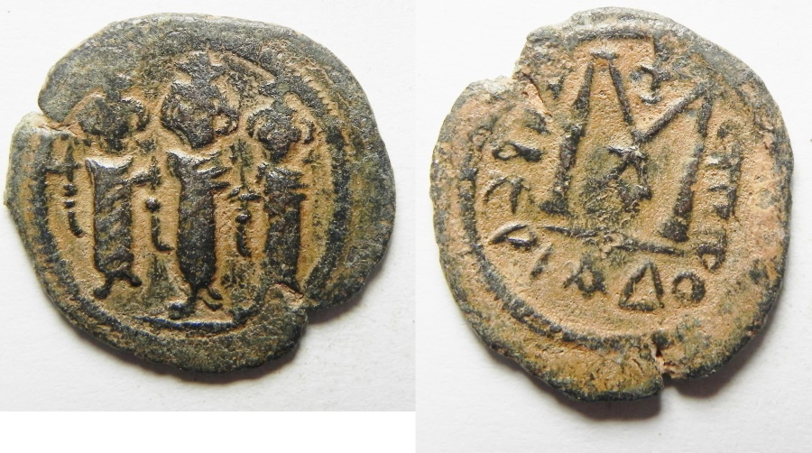 World Coins - ARAB - BYZANTINE, TIBERIAS MINT, AE FALS