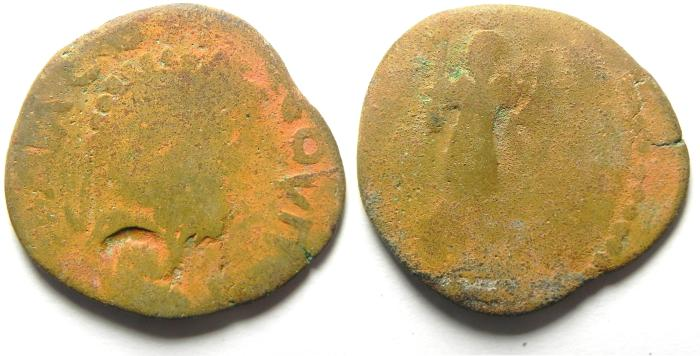 Ancient Coins - ARABIA , RABBATH MOBA , SEPTIMIUS SEVERUS , BARBARIC TYPE AE 25