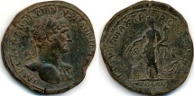 Ancient Coins - Hadrian AE Sestertius, Nice Very Fine, 118 C.E.
