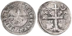 World Coins - Kingdom of Hungary and Croatia, Ladislaus IV (Laszlo) AR Banovac, VF+,  1272 - 1290 C.E.