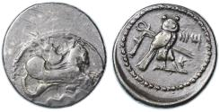 Ancient Coins - Tyre, Phoenicia Early AR Shekel, Near VF, 357 - 349 B.C.E.