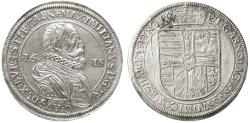 World Coins - Archduke Erzherzog Maximilian AR Taler, NGC UNC., 1615