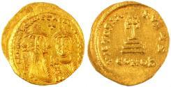 Heraclius & Heraclius Constantine AV  Gold Soldius, Choice Extremely Fine, Pedigreed! 629 - 631 C.E.