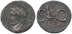 Ancient Coins - Divus Augustus AE AS by Tiberius, Near EF, 15/16 C.E.