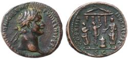 Ancient Coins - Domitian AE AS, SCARCE, Saecular Games, Very Fine+, Pedigreed, 88 C.E.
