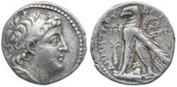 Ancient Coins - Demetrios II AR Didrachm (Half Shekel), VF, Tyre Mint, Important date - see notes, 126/125 B.C.E.