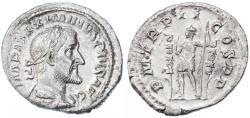 Ancient Coins - Maximinus AR Denarius, EF/AEF, 236 C.E.