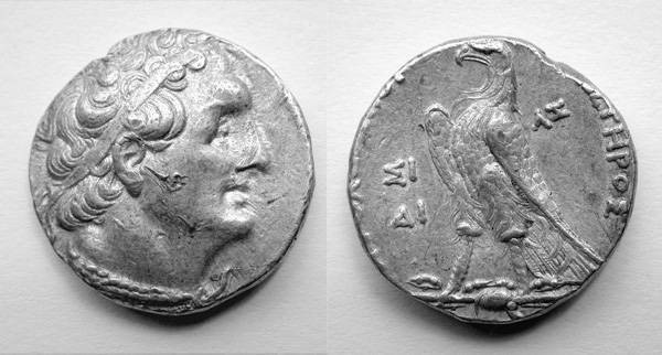 Ancient Coins - Ptolemy II Philadelphus AR Tetradrachm 256/255 BCE