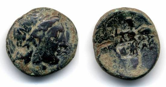 Ancient Coins - Seleukos I, Early Seleucid SCARCE AE with countermark, 320 - 290 B.C.E.
