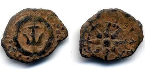 Ancient Coins - Alexander Jannaeus Lepton, Nice VF, Widow's mite with desert patina